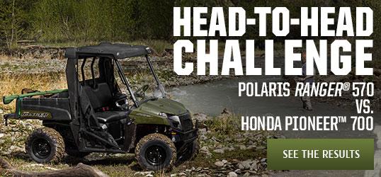 POLARIS  RANGER®  570  vs.  HONDA  PIONEER™  700